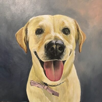 Honey (Yellow Lab) 12x12 Acrylic on Birch Wood